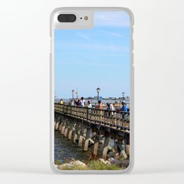 Fishing In Southport Clear iPhone Case