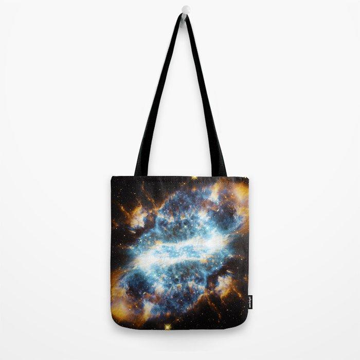 Stark Blue Nebula Tote Bag