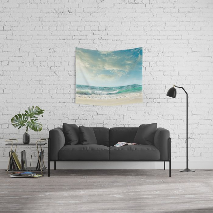 beach love tropical island paradise Wall Tapestry
