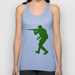 The Circle Game Army Soldier War Guns Funny Unisex Tank Top