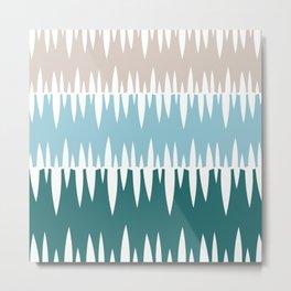 Accordian   blue + green Metal Print