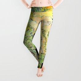 Montana Painted Map Leggings