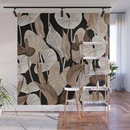 Lush lily - russet Wall Mural