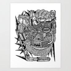 Geometric Mutations Art Print