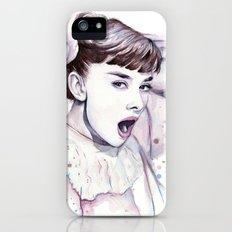 Audrey Hepburn Watercolor Actress Breakfast at Tiffanys Slim Case iPhone (5, 5s)