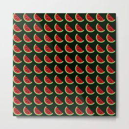 Watermelons in Retro Game Style Metal Print