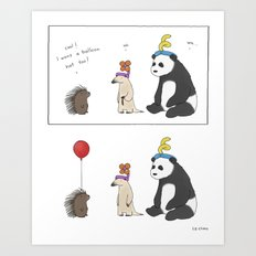 Everybody Deserves a Balloon Hat  Art Print