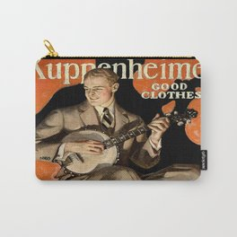 Banjo Player; Vintage Men's Fashion Poster Carry-All Pouch