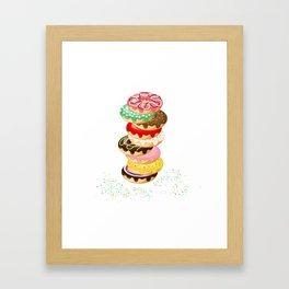 Stack of Donuts Framed Art Print
