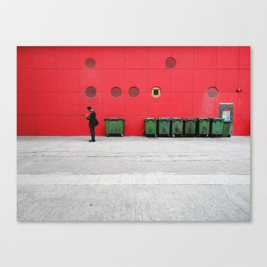 Red Hong Kong Canvas Print