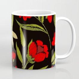 Floral embroidery Coffee Mug