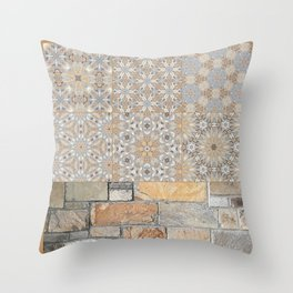 The Alamo Wall Collage 6396 Throw Pillow