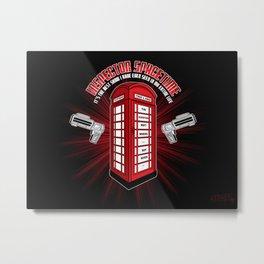 Inspector Spacetime Metal Print