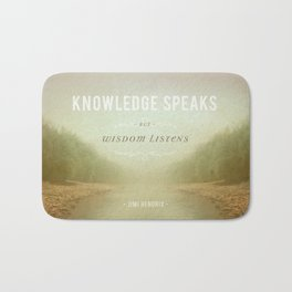 Knowledge Speaks Bath Mat