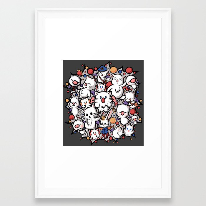 Pom Pom Party Framed Art Print by sevie   Society6
