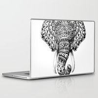 bioworkz Laptop & iPad Skins featuring Ornate Elephant Head by BIOWORKZ