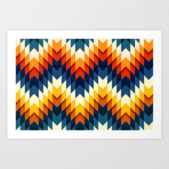 Wanderlust pattern Art Print