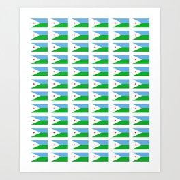 flag of Djibouti -djiboutian,Jabuuti,Gabuuti,Djiboutien,punt,aksum,aden Art Print