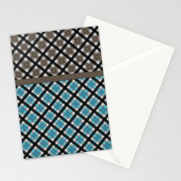 Plaid patchwork 2 Stationery Cards