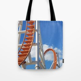 Empty roller coaster on bright winter's day at Coney Island Tote Bag