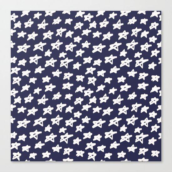 Stars on blue background Canvas Print