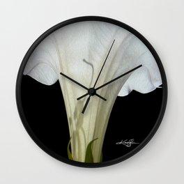 Moon Flower by kathy Morton Stanion Wall Clock