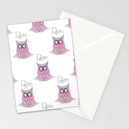 Dream Owl Pattern Stationery Cards