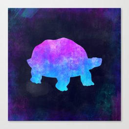 TORTOISE IN SPACE // Animal Graphic Art // Watercolor Canvas Painting // Modern Minimal Cute Canvas Print