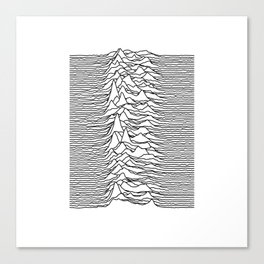 Joy Division - Unknown Pleasures (Black Lines) Canvas Print