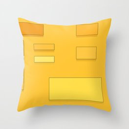 Yellow Geometric Throw Pillow