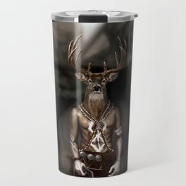 Skinwalker Navajo inspired shapeshifter with deer head Travel Mug