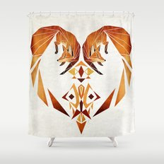 foxes heart  Shower Curtain