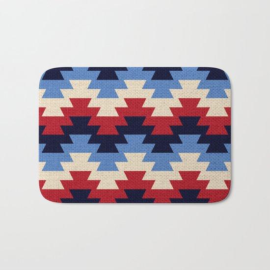 Aztec geometric pattern Bath Mat