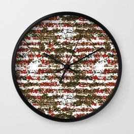 Grunge Textured Abstract Pattern Wall Clock