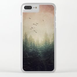 The Forest's Voice - surreal forest photo, Nature Photography, Ethereal Atomspheric Dreamy Clear iPhone Case