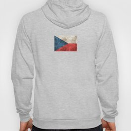 Vintage Aged and Scratched Czech Flag Hoody