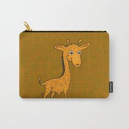 Giraffe - Sepia Brown Carry-All Pouch