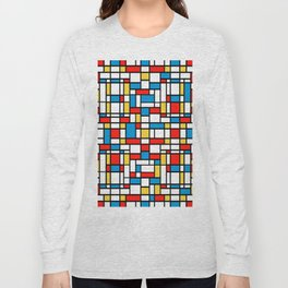 Mondrian design, abstract pattern Long Sleeve T-shirt