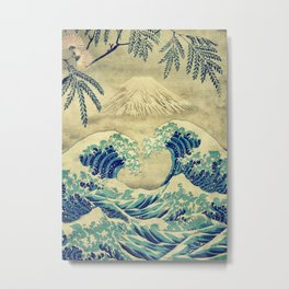 The Great Blue Embrace at Yama Metal Print