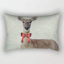 Christmas Deer Holiday Greetings Rectangular Pillow