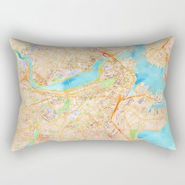 Boston watercolor map XL version Rectangular Pillow