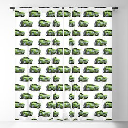 Classic Seventies Style American Muscle Car Cartoon Blackout Curtain