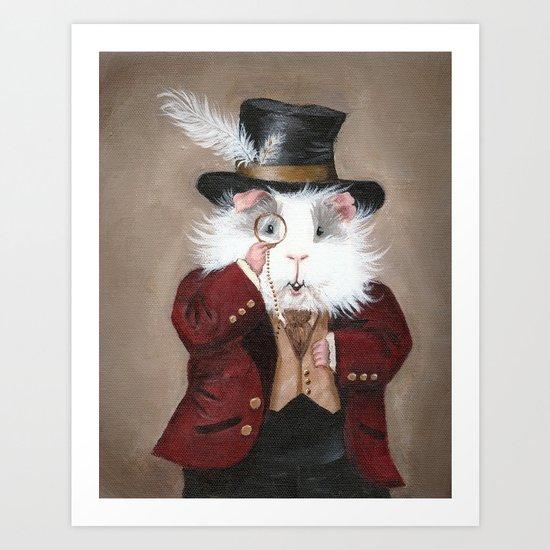 Simon Cranberry the Victorian Guinea Pig Art Print