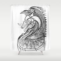 dragon Shower Curtains featuring Dragon. by sonigque