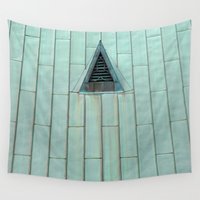 copper Wall Tapestries featuring Copper Roof  by Ethna Gillespie