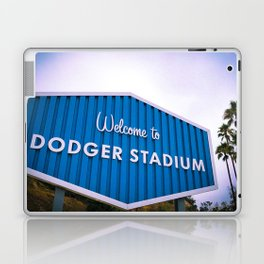 Welcome to Dodger Stadium | Los Angeles California Nostalgic Iconic Sign Sunset Art Print Tapestry Laptop & iPad Skin
