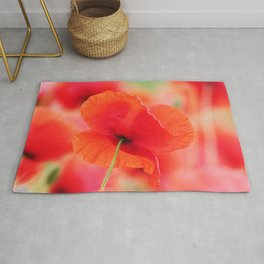 #poppies #square #mural Mural in #Close up Rug