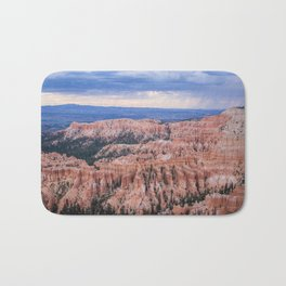 Sunset over Hoodoos - Bryce Canyon National Park, Rocky Natural Landscape, Utah Hiking Photography Bath Mat