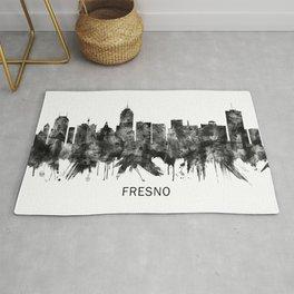 Fresno California Skyline BW Rug