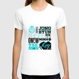 SHINEE Font Collage T-shirt